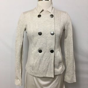 CAbi sz XS Charlie Jacket Oatmeal Double Breasted